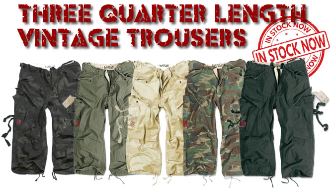 Three Quarter Length Vintage Trousers