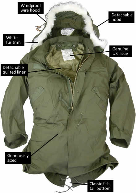 US Fishtail Parka With Hood