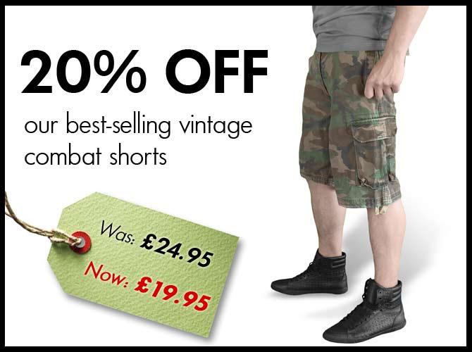 Vintage Combat Shorts Offer