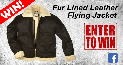 Win a Fur Lined Leather Flying Jacket