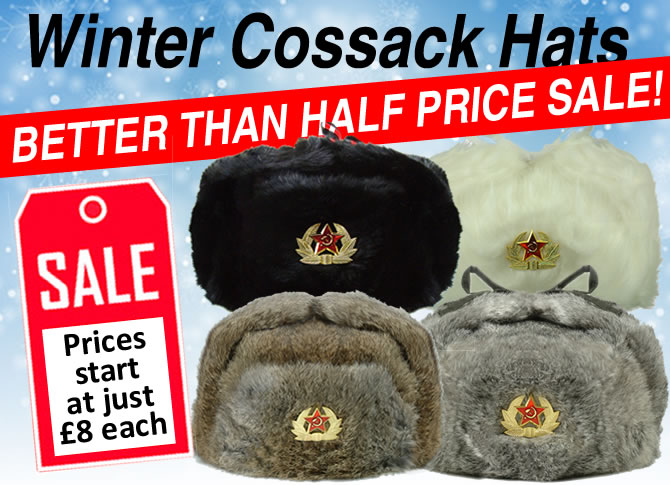 Winter Cossack Hats Better Than Half Price Sale