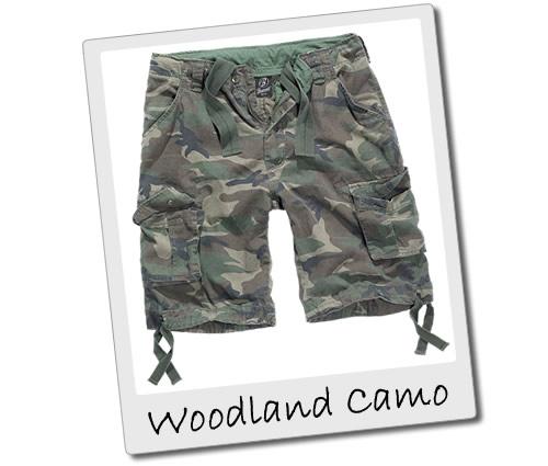 Woodland Camo Cargo Shorts