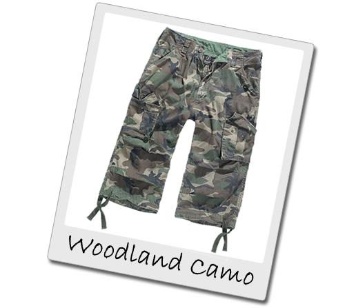 Woodland Camo Three Quarter Length Shorts